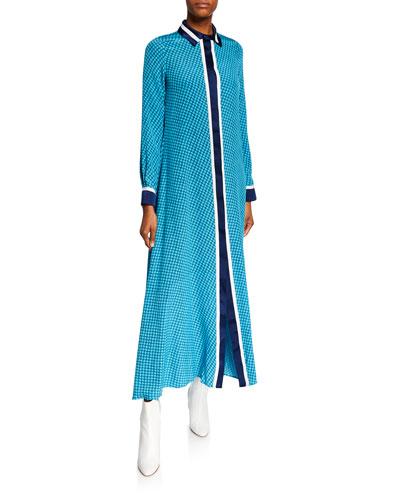 Assa Printed Long Dress