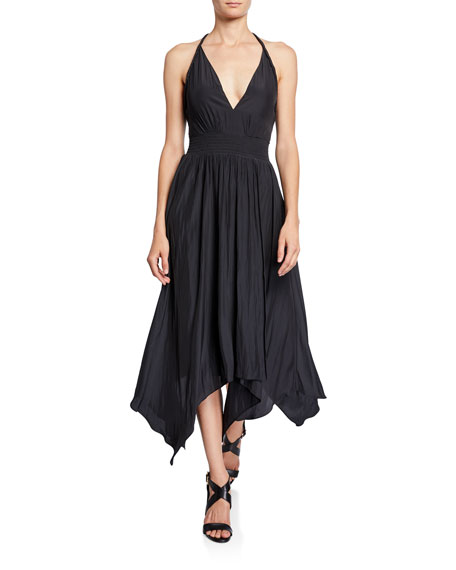 Ramy Brook Jojo V-Neck Handkerchief Dress