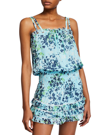 Ramy Brook Tops SIENA PRINTED SILK TOP