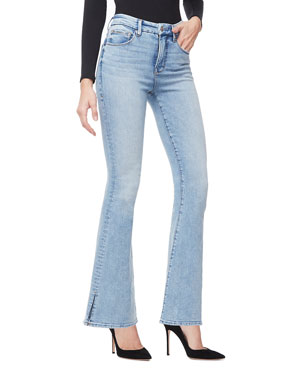86a809fee05 Good American Duster Flare Jeans - Inclusive Sizing