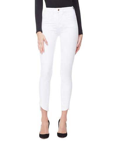 Good Legs Crop Cascade-Hem Jeans - Inclusive Sizing