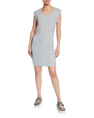 f35f21eedf2 Splendid Scoop-Neck Ruched-Side Min Dress