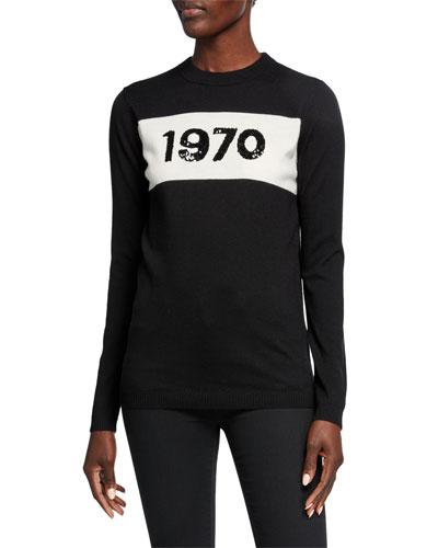 Sequin 1970 Crewneck Wool Sweater