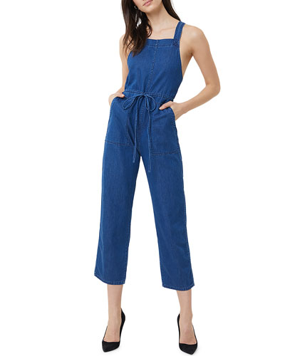 Cyra Denim Cropped Jumpsuit