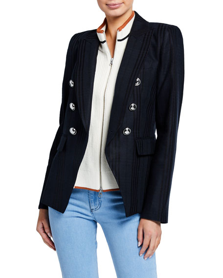 Veronica Beard Miller Striped Dickey Jacket