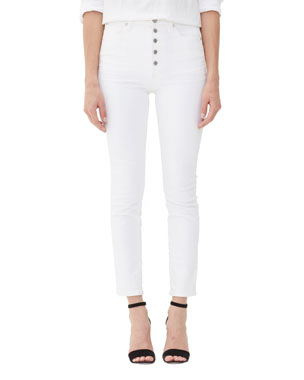6680fdfb6d Citizens of Humanity Olivia Exposed Fly High-Rise Slim Ankle Jeans