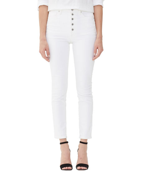 Citizens Of Humanity Jeans OLIVIA EXPOSED FLY HIGH-RISE SLIM ANKLE JEANS