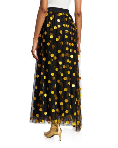 MSGM Polka Dot Tulle Long Skirt
