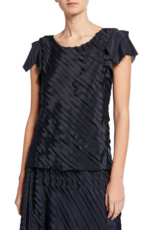NIC+ZOE Fiesta Short-Sleeve Ruffle Top