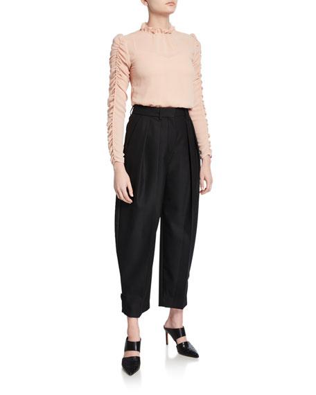 See by Chloe City Wool Pleated Pants