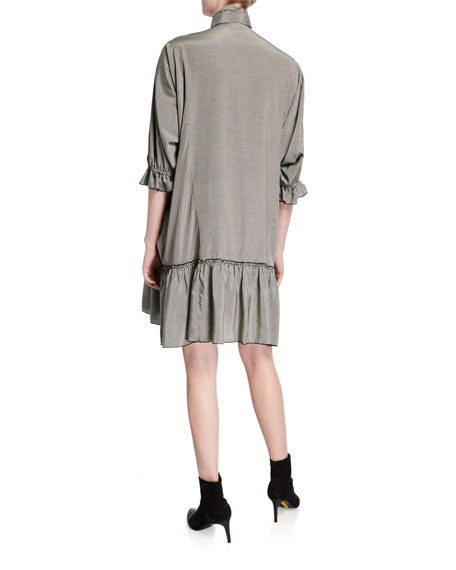 See by Chloe Ascot Tie Fluid Shirt Dress