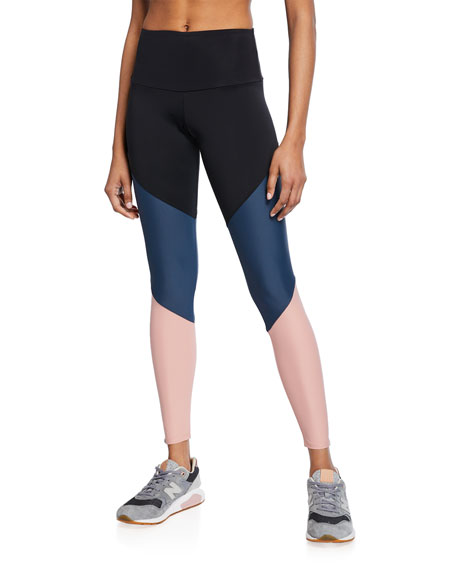 Onzie COLORBLOCK HIGH-RISE TRACK LEGGINGS