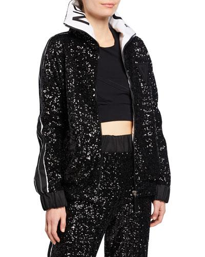 Midnight Side Striped Embellished Jacket