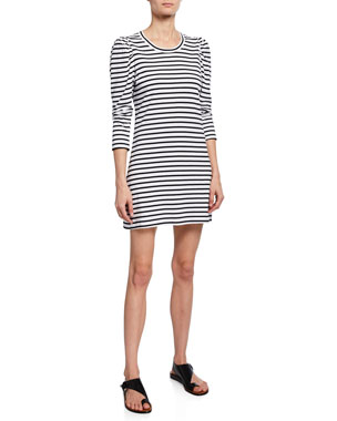 e772b188a4e A.L.C. Kidman Striped 3 4-Sleeve Cotton Dress