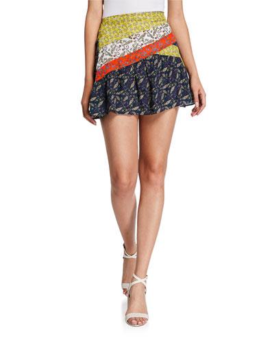 Kaia Printed Short Skirt