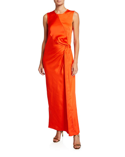 Catch The Sunset Knotted Maxi Dress