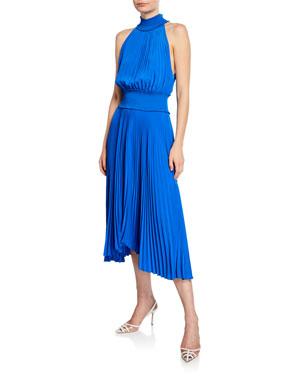 c34a142e074 A.L.C. Renzo B Sleeveless Turtleneck Pleated Midi Dress