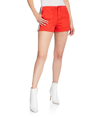 Lace-Up Detail Side-Stripe Shorts