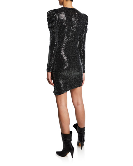 Iro Loulou Sequined Long-Sleeve Dress