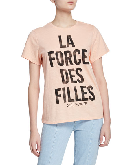 cinq a sept Girl Power Short-Sleeve Graphic Tee