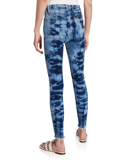 FRAME Le High Skinny Raw-Edge Jeans