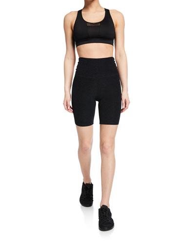 High-Waisted Biker Shorts