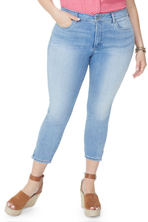 NYDJ Plus Plus Size Ami Skinny Ankle Crop with Split Hem