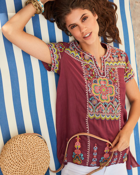 e670741f3bccd Image 2 of 3  Tamia Embroidered Draped Top