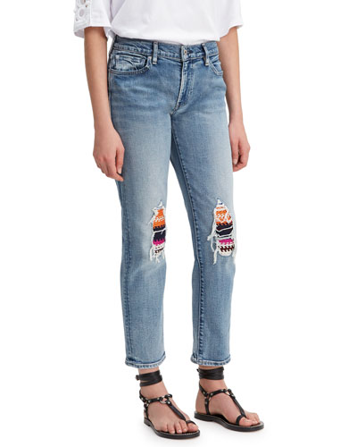 New Boyfriend Jeans with Embroidery