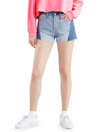 501 Patchwork Denim Shorts