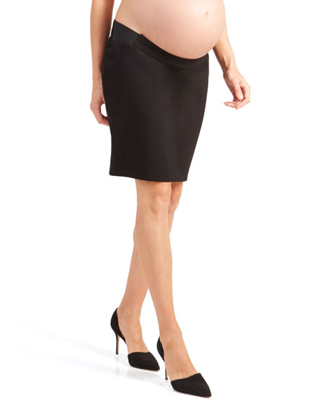 Ingrid & Isabel Skirts MATERNITY PONTE PENCIL SKIRT WITH SIDE INSET