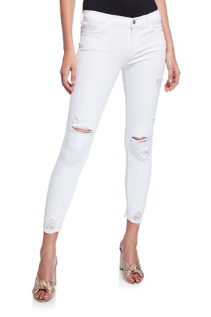 J Brand 835 Mid-Rise Crop Skinny Jeans
