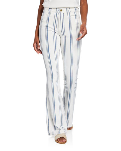 Le High Flare Striped Jeans