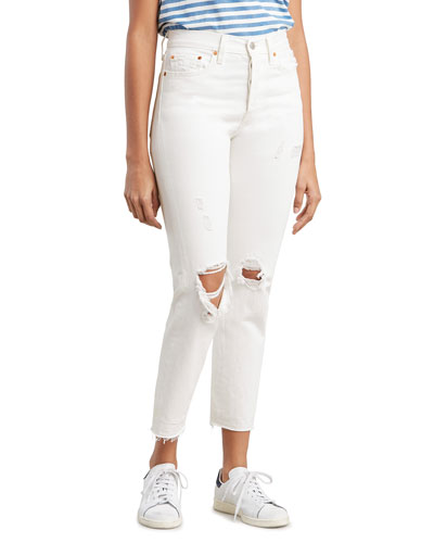 Wedgie Fit High-Rise Destructed Jeans