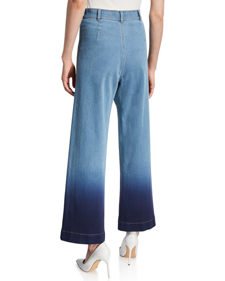 Lafayette 148 New York Clark Prestige Denim 11 OZ Cropped Pants
