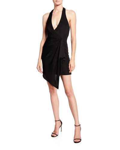 Marx Halter-Neck Drape Dress