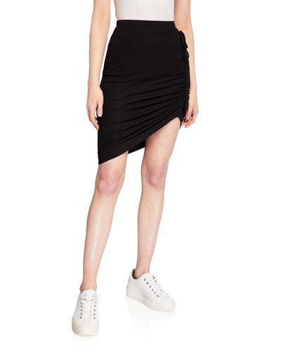 Alto Asymmetric Ruched Skirt