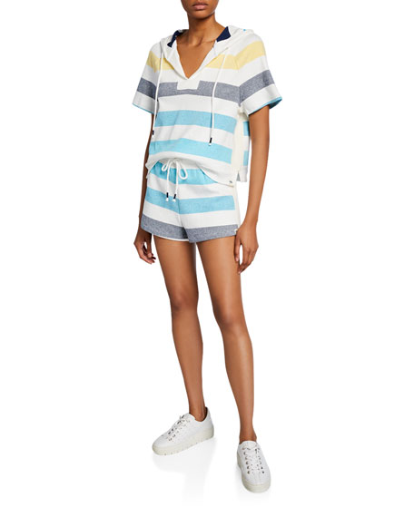 Splendid Shoreline Striped Drawstring Shorts