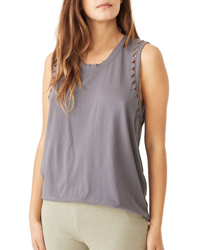 Muscle Tank with Triangle Cutouts