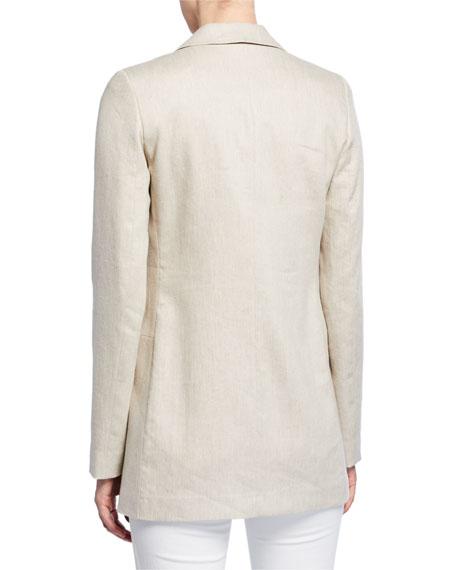 Lafayette 148 New York Britton Bespoke Weave Double-Breasted Jacket