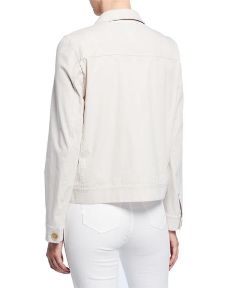 Lafayette 148 New York Skylar Button-Front Italian Cotton Bi-Stretch Jacket