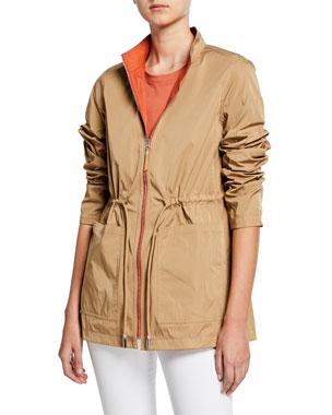 3687e504 Lafayette 148 New York Palomina Eclipse Outerwear Reversible Zip-Front  Jacket