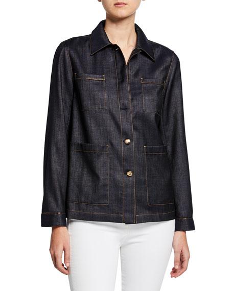 Lafayette 148 New York Esmeralda Mercantile Cloth Button-Front Jacket