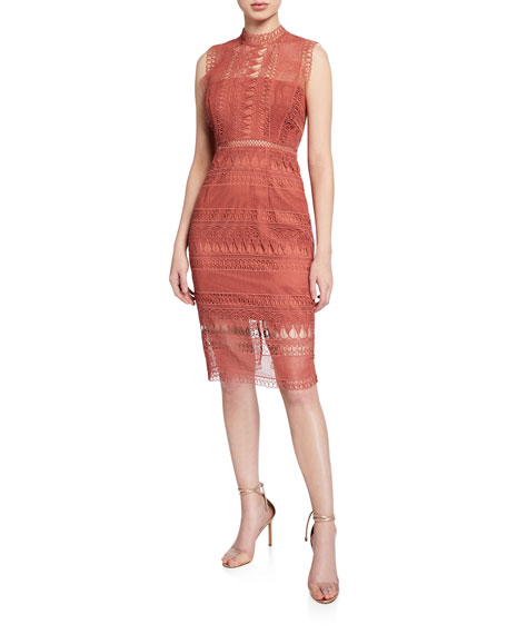 Bardot Mariana Sleeveless Lace Body Con Dress by Bardot