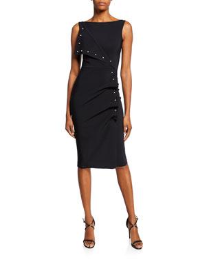 922370d9cb2 Chiara Boni La Petite Robe Miracle Asymmetric Pearly-Trim Dress