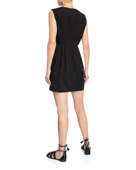 Club Monaco Perdeta Sleeveless Pleated Mini Dress