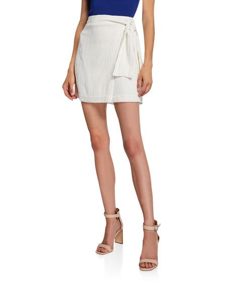 Club Monaco Mairead Striped Wrap Skirt