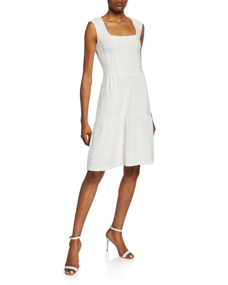 Nanette Lepore Nomad Square-Neck Sleeveless Cotton Dress