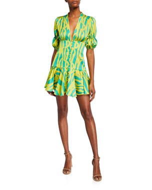 b80dcdb3fe330 Alexis Idun Short Neon Dress