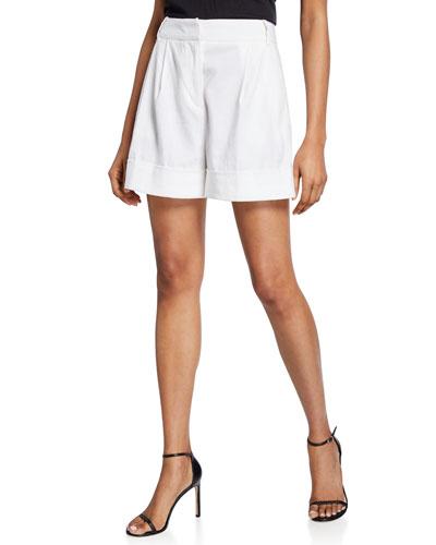 Shiana Cuffed Linen Shorts